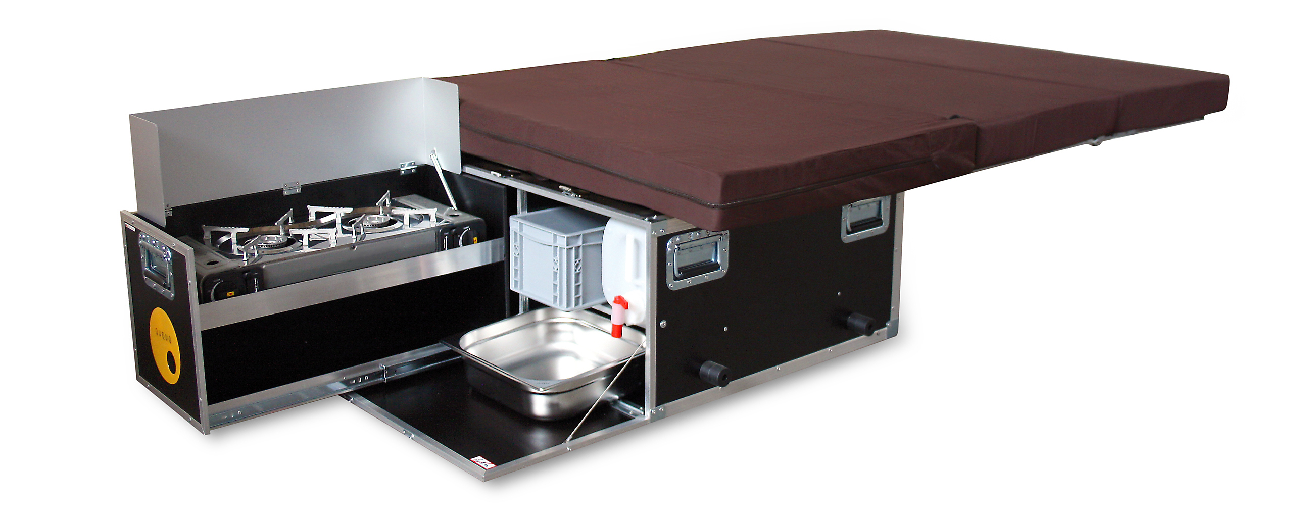 c6934ab11ffc The kitchen is ready to use in a few seconds and the comfortable bed folded  out with one hand. So you can fully enjoy the holiday and travel relaxed  and ...